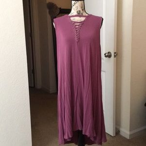 Mauve Dress with Accented Chest Design 👗